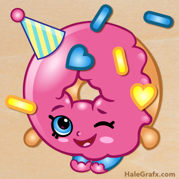 photograph about Printable Shopkins Pictures titled Totally free Printable Shopkins Pin the sprinkles upon Dlish Donut