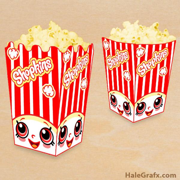 FREE Printable Shopkins Popcorn Box