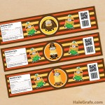 FREE Printable Thanksgiving Minions Water Bottle Labels