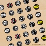FREE Printable Star Wars Empire Hershey's Kisses Stickers