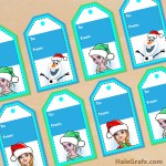 FREE Printable Christmas Frozen Gift Tags