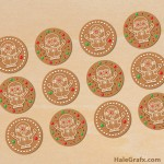 FREE Printable Christmas Gingerbread Minion Cupcake Toppers