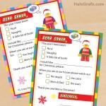 FREE Printable LEGO Letters to Santa Claus