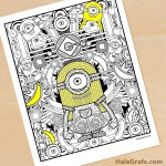 FREE Printable Minion Coloring Page for Adults