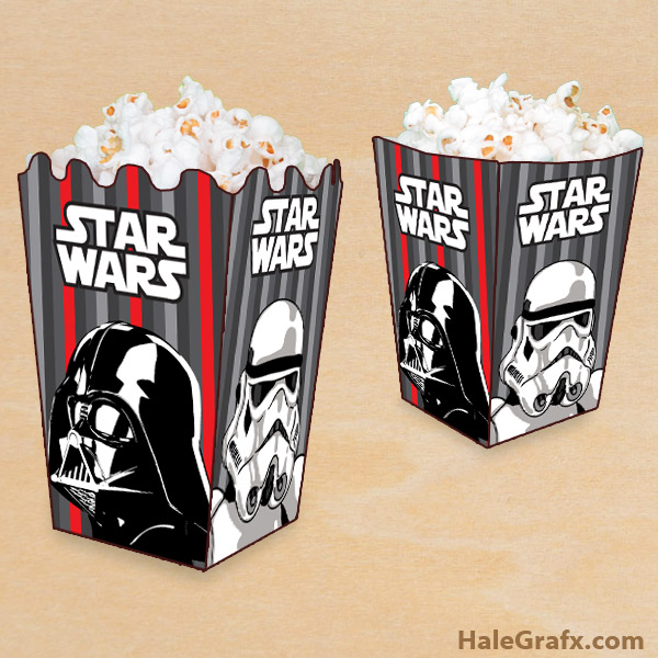 "<p>Are you watching a marathon of Star Wars movies or having a party? Here is a free printable Star Wars Empire themed popcorn box for your Star Wars party or movie night. These are fun to print and create for a birthday or use them when you simply want to get friends and family together and watch Star Wars. We use them in our house for those weekend marathons. This printable popcorn box is themed with the Dark side of the force. There is a storm Trooper and the sith lord, Darth Vader. Just print, cut, fold, and add a little glue or tape to build your Star Wars popcorn boxes. Once you have them put together fill with your favorite popcorn recipe, or make a sweet popcorn candy mix. I use my grandpa's healthy popcorn recipe when I watch the Star Wars movies with my girls :)</p><p></p><p>This free Star Wars printable is designed to print on 8.5 x 11, standard letter-sized paper from a PDF file. It takes two printed sheets to assemble one popcorn box. An additional popcorn box cutting and folding guide is included in the download. With this template you can make either flat or rippled edged top Star Wars popcorn boxes. You can download your free Star Wars Empire popcorn box Below. Enjoy!</p><p style=""text-align: center;""><a href=""https://halegrafx.com/wp-content/uploads/2015/11/Star Wars-popcorn-boxes.jpg""><img class=""aligncenter wp-image-5065"" title=""FREE Printable Star Wars Popcorn Box"" src=""https://halegrafx.com/wp-content/uploads/2015/11/Star Wars-popcorn-boxes.jpg"" alt=""FREE Printable Star Wars Popcorn Box"" width=""550"" height=""550"" /></a></p><p><div id=""ga-block""><script type=""text/javascript""> google_ad_client = ""ca-pub-7494667682652434""; google_ad_slot = ""0258186268""; google_ad_width = 336; google_ad_height = 280; </script> <!-- Halegrafx Lg Post Break --> <script type=""text/javascript"" src=""//pagead2.googlesyndication.com/pagead/show_ads.js""> </script></div><div id=""ga-dlod""> <br/><br/> <div id=""ga-sp""></div> <div id=""ga-sp""><a class=""hgdlx"" id=""hgdlx3"" href=""""http://www.mediafire.com/download/1f111lpiacofc1y/Star-Wars-Empire-popcorn-box.zip"""">Free Download</a></div> <div id=""ga-sp""><strong>License:</strong> </div> <div id=""ga-sp""><strong>File Size:</strong> ""416</div> <div id=""ga-sp""><strong>Format:</strong> ""PDF""</div> </div></p>"