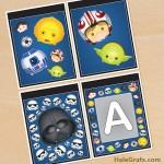 FREE Printable Star Wars Tsum Tsum Alphabet Banner Pack