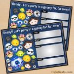 FREE Printable Cute Star Wars Tsum Tsum Birthday Invitation