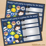 FREE Printable Cute Star Wars Tsum Tsum Birthday Invitation