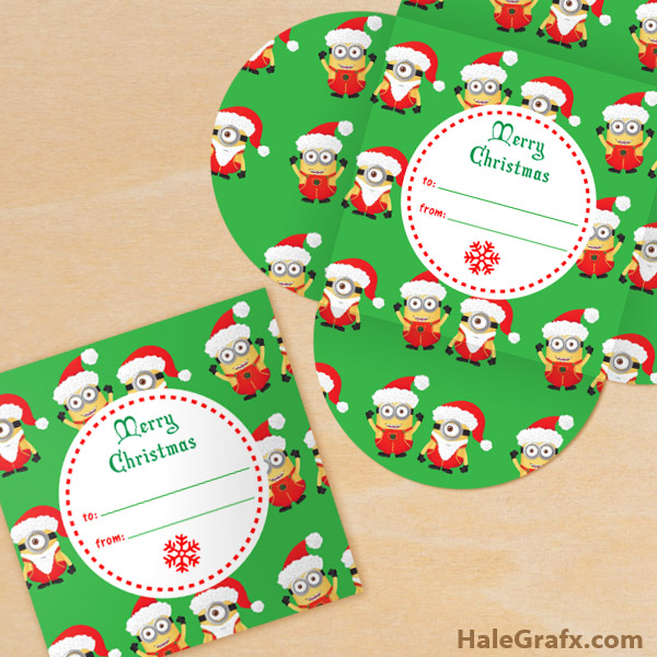 FREE Printable Christmas Minion Gift Card Holder