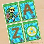 FREE Printable Legend of Zelda Alphabet Banner Pack
