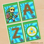 FREE Printable Legend of Zelda Alphabet Banner Pack