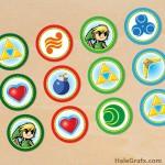 FREE Printable Legend of Zelda Cupcake Toppers