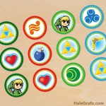 FREE Printable Legend of Zelda Cupcake Toppers