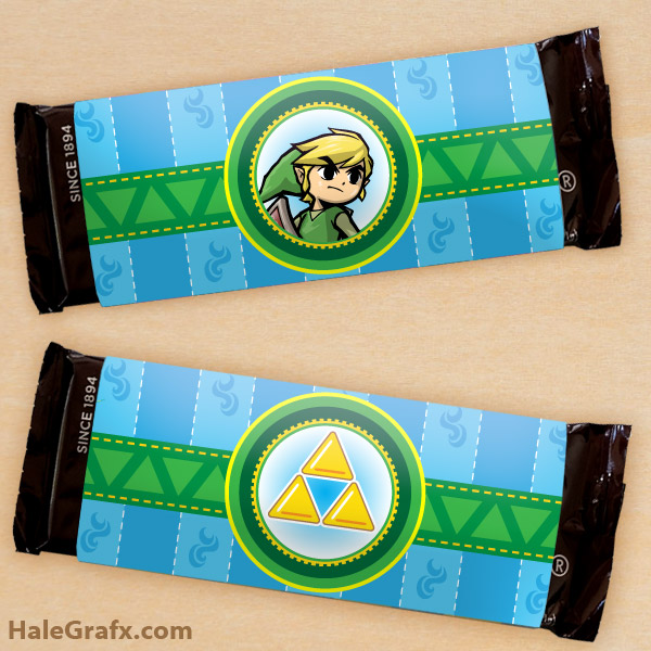 FREE Printable Legend of Zelda Candy Bar Wrappers