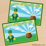 FREE Printable LEGO St. Patrick's Day Card