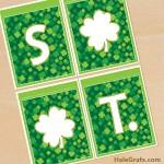 FREE Printable St. Patrick's Day Alphabet Banner Pack