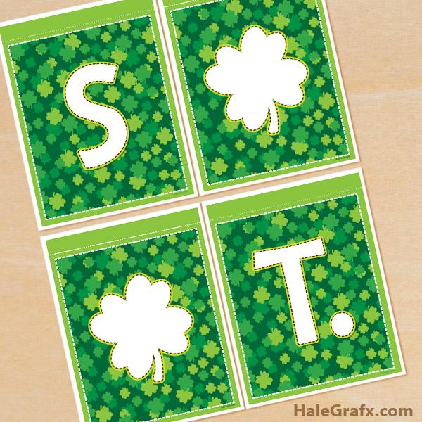 FREE Printable Disney St. Patrick's Day Alphabet Banner Pack