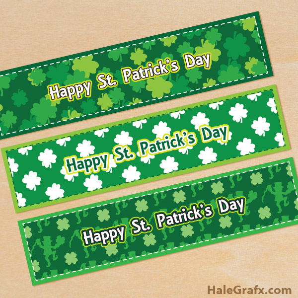 FREE Printable St. Patrick's Day Water Bottle Labels