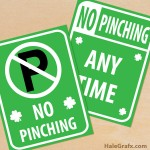 FREE Printable St. Patrick's Day No Pinch Signs