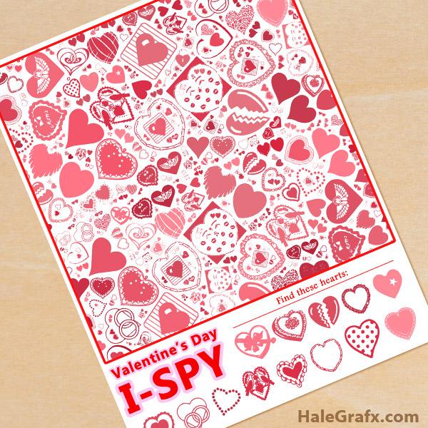 FREE Printable Valentine's Day I-Spy Sheet