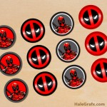 FREE Printable Deadpool Cupcake Toppers