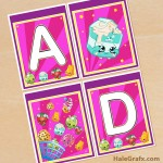 FREE Printable Shopkins Alphabet Banner Pack