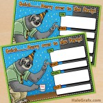 FREE Printable Zootopia Flash Birthday Invitation