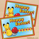 FREE Printable Cute Pikachu Easter Greeting Card