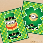 FREE Printable St. Patrick's Day Minion Posters