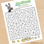 FREE Printable Zootopia Easter Maze