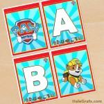 FREE Printable Paw Patrol Alphabet Banner Pack