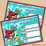 FREE Printable Angry Birds Birthday Invitation