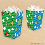 FREE Printable Angry Birds Popcorn Box