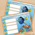 FREE Printable Finding Nemo Birthday Invitation