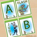 FREE Printable Zootopia Alphabet Banner Pack