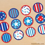 FREE Printable July 4th Cupcake Toppers