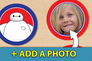 Add a photo to your Big Hero 6 cupcake toppers