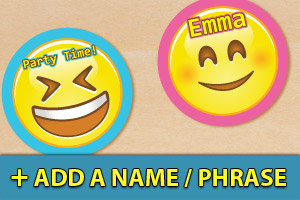 Add a name or phrase to your emoji cupcake toppers