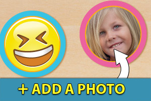 Add a photo to your emoji cupcake toppers