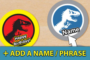 Add a name or phrase to your Jurassic Park cupcake toppers