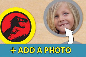 Add a photo to your Jurassic Park cupcake toppers
