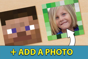 Add a photo to your printable minecraft cupcake toppers