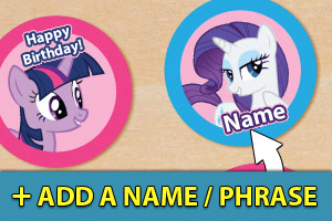 Add a name or phrase to your My Little Pony cupcake toppers