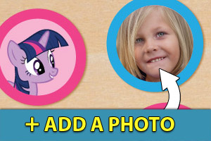 Add a photo to your my little pony cupcake toppers