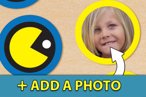 Add a photo to your Pac-man cupcake toppers