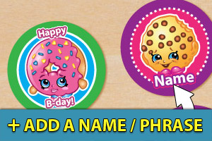 Add a name or phrase to your Shopkins cupcake toppers