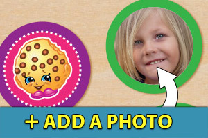 Add a photo to your Shopkins cupcake toppers