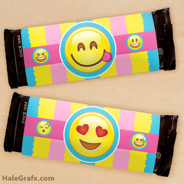 FREE Printable Emoji Candy Bar Wrappers