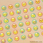 FREE Printable Emoji Hershey's Kisses Stickers
