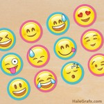 FREE Printable Emoji Cupcake Toppers
